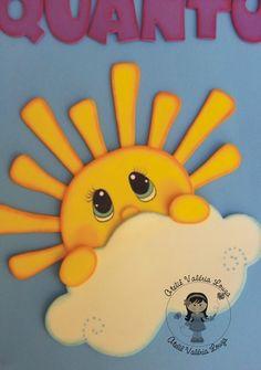 Cartaz Quantos Somos Hoje, em EVA Tema: Jardim Tamanho: 40 cm x 60 cm Paper Crafts For Kids, Foam Crafts, Diy And Crafts, Arts And Crafts, Classroom Crafts, Preschool Crafts, Decorate Notebook, Newspaper Crafts, School Decorations