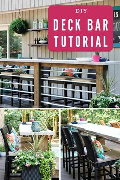 DIY Deck Bar on a Budget - Beth Copley - DIY Deck Bar on a Budget Dreaming of an outdoor bar or deck bar? We were too and we are sharing our plans for this easy and affordable DIY deck bar! Diy Outdoor Bar, Diy Deck, Outdoor Decor, Outdoor Ideas, Deck Building Plans, Deck Plans, Pergola Plans, Pergola Patio, Fresco