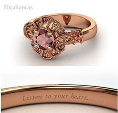 """Disney engagement inspired rings: """"Pocahontas"""" Round Red Garnet Rose Gold Ring with Red Garnet & Smoky Quartz Disney Princess Engagement Rings, Disney Wedding Rings, Princess Wedding, Disney Jewelry, Ring Verlobung, Gold Ring, Bronze Ring, Diamond Rings, Diamond Are A Girls Best Friend"""