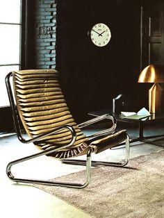 Gianni Pareschi; Chromed Tubular Metal Lounge Chair for Busnelli, 1969.