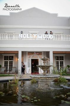 "Little Miracles Year End Function, themed ""Hollywood"" - displayed in the décor and dresses. Wedding Venues, Hollywood, Weddings, Mansions, House Styles, Photography, Home Decor, Nantes, Wedding Reception Venues"