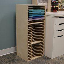 Stack up your paper in a Three-Tiered Paper Holder! Craft Paper Storage, Vinyl Storage, Art Storage, Paper Organization, Storage Drawers, Tall Cabinet Storage, Locker Storage, Plywood Storage, Organizing Life