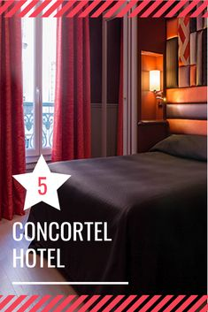 In Paris, l'Hôtel Concortel 3 stars welcomes you to stay in its spacious and comfortable bedrooms and suites. Ideally situated in the heart of Paris, arrondissement. Paris Hotels, France, Curtains, Bedroom, Home Decor, Blinds, Decoration Home, Room Decor, Bed Room