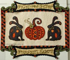 The Raspberry Rabbits: reverse wool applique
