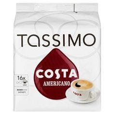 -in USA- Tassimo COSTA Americano Coffee pods -