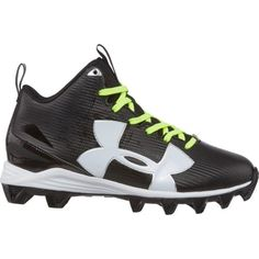 Under Armour Boys  Crusher RM Jr. Wide Football Cleats (Black White 95ad50021cf