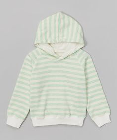 This Mint Stripe Hoodie - Infant, Toddler & Girls is perfect! #zulilyfinds