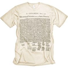 Declaration of Independence Shirt -- WHO is more Patriotic than me?  Um, NO ONE!!