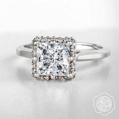 Every girl deserves to feel like a princess. #princesscut #ring #engagementring #love #diamond
