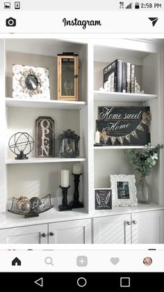 Home Decoration Ideas For Birthday .Home Decoration Ideas For Birthday Diy Interior, Home Living Room, Living Room Decor, Cheap Home Decor, Diy Home Decor, Built In Shelves Living Room, Decorating Bookshelves, Diy Décoration, Home Decor Accessories