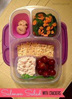 Keeley McGuire: Lunch Made Easy: 20 Non-Sandwich School Lunch Ideas for Kids!  Tuna instead of salmon