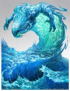 Water Elemental - Pathfinder by Nigreda