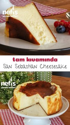 Tam Kıvamında San Sebastian Cheesecake Tarifi – Nefis Yemek Tarifleri – Keto tarifleri – The Most Practical and Easy Recipes Health Smoothie Recipes, Healthy Dessert Recipes, Desserts, Delicious Recipes, New York Cheesecake Rezept, Cheesecake Recipes, Cheesecake Bites, Lemon Cheesecake, Strawberry Cheesecake