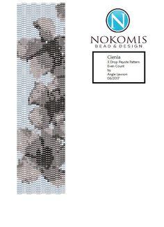 Even Count, 3 Drop Peyote Stitch Bracelet Pattern Digital Download - Cienia by NokomisBeadAndDesign on Etsy
