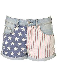 Topshop American flag shorts, £34 - spring denim - fashion - shopping