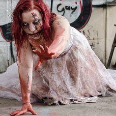 Halloween zombies makeup tutorial!