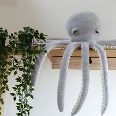 Amigurumi large octopus crochet kit by Solid And Marl. Luxury yarn, crochet pattern, hook, everything you need to make it all in a lovely gift box - Animal crochet kits - Solid And Marl Octopus Crochet Pattern, Crochet Patterns Amigurumi, Crochet Toys, Octopus Plush, Octopus Eyes, Preemie Crochet, Little Octopus, 4 Ply Yarn, Crochet Supplies