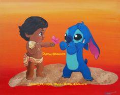 Stitch and baby Moana?! Be still my heart!