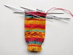 Winwick Mum: Beginner sock knitting: Sockalong - Week 1 - Cast on, cuff and leg Knitting Stitches, Knitting Socks, Free Knitting, Baby Knitting, Knitting Patterns, Knit Socks, Knitting Tutorials, Knitting Machine, Vintage Knitting
