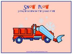 FREE Snow-Themed Word Sort: The Two Sounds of OW | This Reading Mama