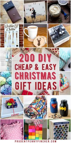 Spread holiday cheer with these cheap and easy DIY Christmas gifts. There are hundreds of DIY gift ideas for the family (mom, dad, kids, teens) and friends.