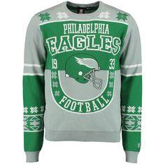 Philadelphia Eagles Klew Retro Ugly Sweater - Green
