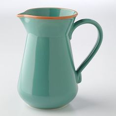 Bobby Flay Turquoise Pitcher