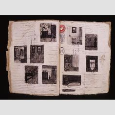 """UNTITLED (HANDMADE BOOK)/ James Castle (1899–1977), Boise, Idaho, 1920–1950, soot and saliva on found paper, bound with string, 12 × 10 3/16"""" (closed), collection American Folk Art Museum, gift of Thomas Isenberg, 2001.32.1. Photo credit: Gavin Ashworth."""