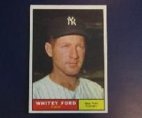 WHITEY FORD 1961 Topps Card #160 New York Yankees HOF star *FREE SHIPPING!*