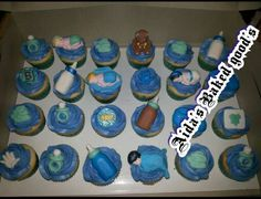 Bay shower cupcakes.