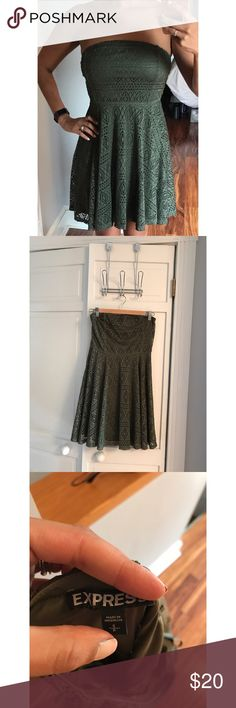 Olive green strapless dress Olive green strapless dress Express Dresses Strapless