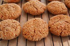 "Cinnamon Almond Cookies or ""Snickerdoodles"" | Grain-Free, Egg-Free. Uses almond flour & psyllium husk."