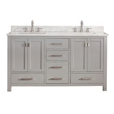 Avanity Modero Chilled Gray 60-inch Double Vanity Only