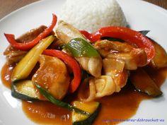 Dobrou chuť: Kuřecí nudličky na pivě Kung Pao Chicken, Caprese Salad, Shrimp, Meat, Ethnic Recipes, Food, Essen, Meals, Yemek