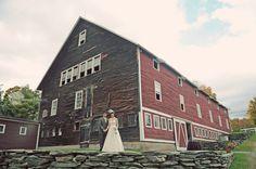 fall, red barn, vermont wedding