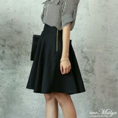 A-Line Midi Skirt from #YesStyle <3 twoMstyle YesStyle.com