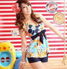 Online Shop bags women 2014NEW vintage swimsuits one piece dot swimsuit retro swimwear women one piece plus size cute dress|Aliexpress Mobile