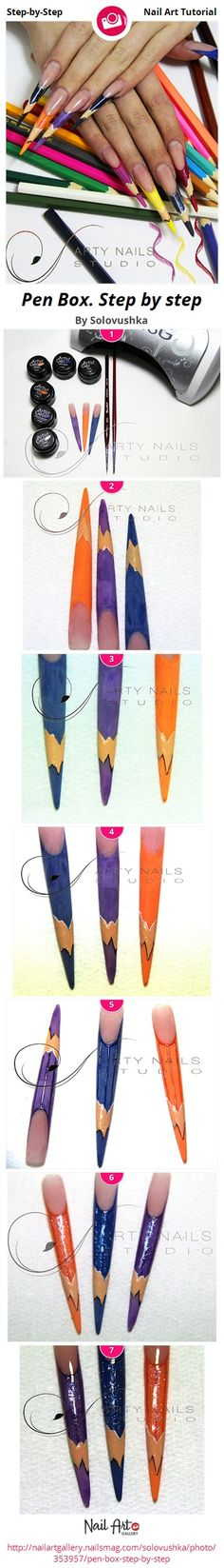 Color Pencil- Nail Art Step-by-step Tutorial