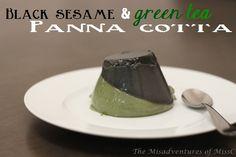 Black Sesame & Matcha Panna Cotta