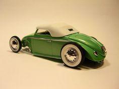 V-Dubbed ... fusca ...vw ... beetle Volkswagen Convertible, Beetle Convertible, Vw Rat Rod, Rat Rods, Hot Vw, Vw Vintage, Vw Camper, Vw Beetles, Plastic Models