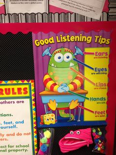 Feed the monster a Pom Pom when good things happen :) classroom management