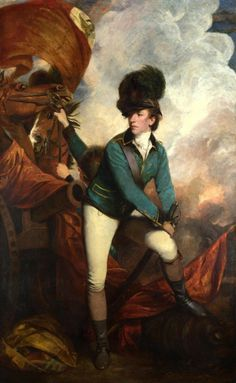 Joshua Reynolds,Portrait of Sir Banastre Tarleton (Colonel Tarleton), (1782)