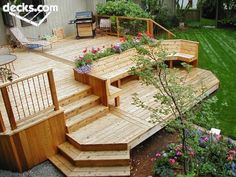 Like the planters built in and bench