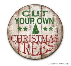 Cut your own Christmas Trees wooden sign by DesignHouseDecor