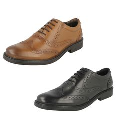 MEN S  HUSH PUPPIES  SHOES LEATHER    STYLE - ROCKFORD BROGUE