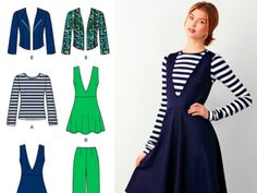 Simplicity 1325 - Pinafore Dress, Trousers & Jacket
