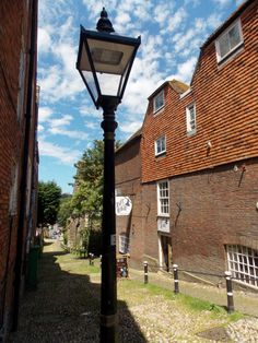 This is the cobbled Conduit Hill in Rye, East Sussex, England, always out of breath when I reach the top! by B Lowe