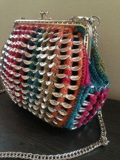 Soda tab purse in rainbow colors
