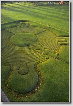 The Ancient Labyrinth at Town Common, Saffron Walden, Essex, England est. 1699 - imagine how powerful it would be to visit these labyrinths that people have walked for of years. Crop Circles, Bad Windsheim, Labyrinth Maze, The Minotaur, Sacred Geometry, Around The Worlds, Earth, Labrynth, Amazing