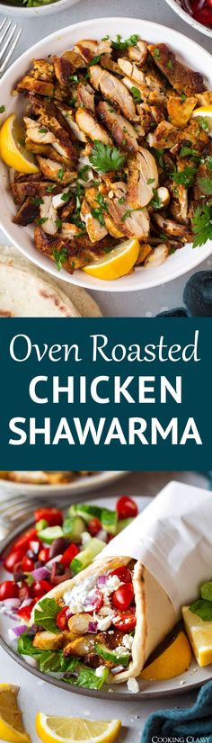 Oven Roasted Chicken Shawarma - it's is all of my dinner dreams come true! This Middle Eastern inspired chicken is boasting with a delicious blend of spices, it's perfectly golden brown with a tender interior and crisp edges and it's so easy to make. #chicken #recipe #healthyrecipe #mealprep #chickenshawarma via @cookingclassy